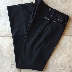 Black jeans,  7 for all mankind, size 29, long 34.